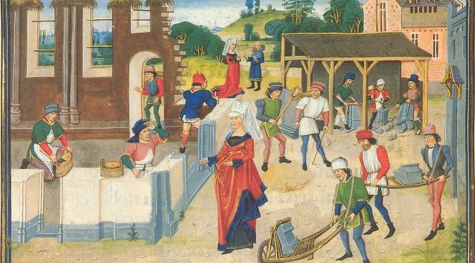 Mise en œuvre de la pierre et des mortiers à Guédelon
